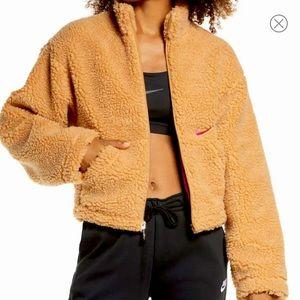 Nike Swoosh Faux Fur Teddy Jacket